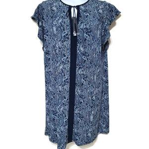 Michael Michael Kors blue paisley dress